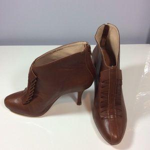 Pour la Victoire Shoes - Pour La Victoire leather ruffle booties. Size 7.5