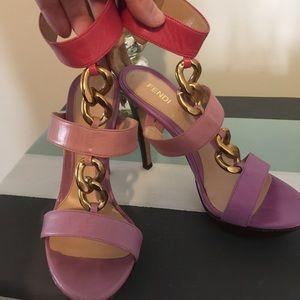 Fendi Shoes - Fendi platform heels pink gold size 7