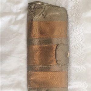 Handbags - Kotur snake clutch bronze with amber closure