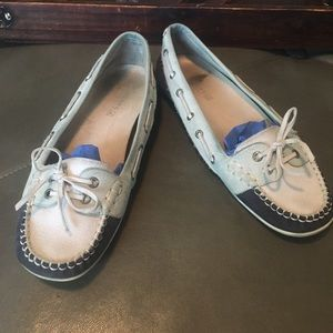 Sperry Top-Sider Shoes - Sperry Topsider navy and white flats sz 8.5
