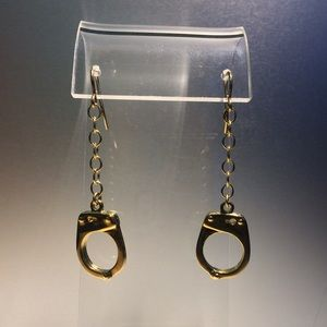 18K Gold Plated Solid Sterling Handcuff Earrings