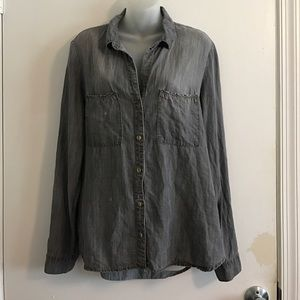 Cloth and Stone Anthropologie Denim button up