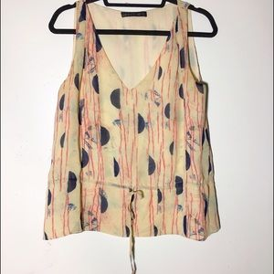 Lafayette 148 New York Tops - Lafayette 148 New York silk tie waist blouse M