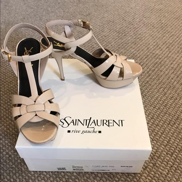 6c67e228055 Yves Saint Laurent Shoes | Ysl Tribute Sandal Patent Leather | Poshmark