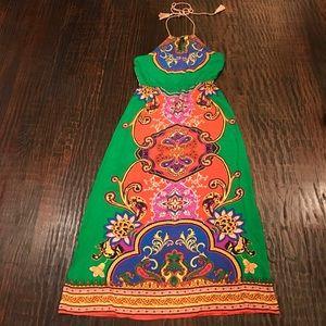 Flying Tomato Maxi Print Halter Dress