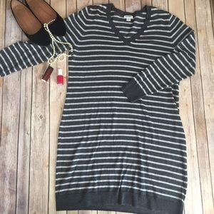 Old Navy grey knit striped dress