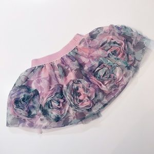 Children's Place Other - Floral Frilly Skirt