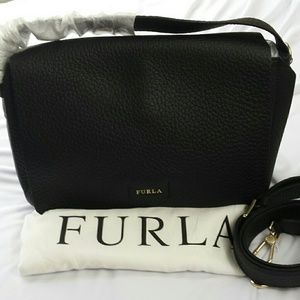 Furla Handbags - Furla Capriccio Flap Crossbody Onyx Bag