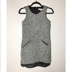 LOFT Dresses & Skirts - LOFT tweed and chiffon sleeveless tunic dress 2