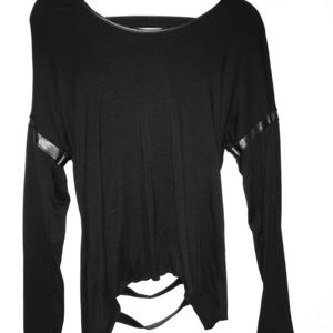 Astars Tops - Worn once astars black top with shredded back