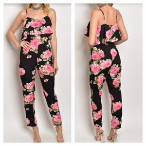Pants - 🆕 Floral ruffle top jumpsuit