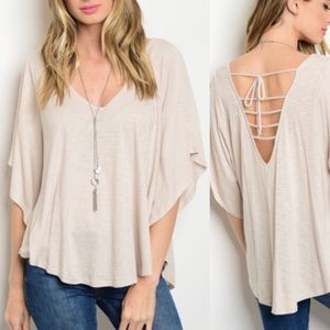WILA Tops - Sandy Blouse with Open Cutout Back