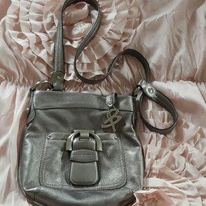 b. makowsky Handbags - B. MAKOWSKY Pebbled Leather Metalliic Bag.