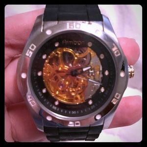 Armitron Other - ARMITRON 20/4405SV Silicone Skeleton Watch
