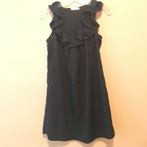 Black Pins and Needles Ruffle Dress- Size Small