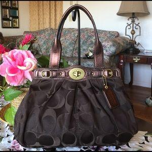 Coach Handbags - Coach Signature Garnet Shoulder Bag