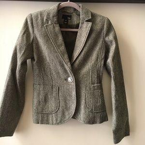 H&M green jacket/ blazer size 4