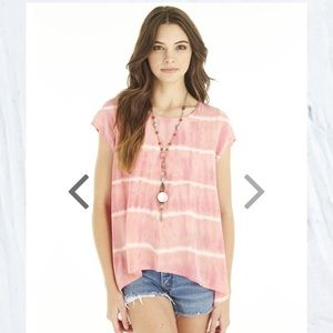 Gypsy 05 Silk tie dye hi lo top