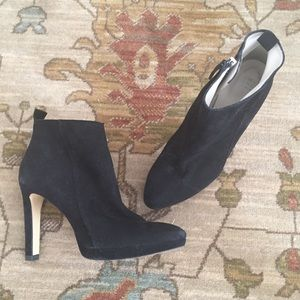 Zara Faux Suede High Heeled Ankle Boot