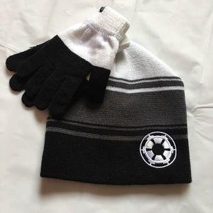 Star Wars Other - NWT Star Wars Bioworld Men's Hat & Gloves Set