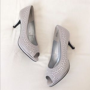 Kelly & Katie Shoes - PROM!:) embellished peep-toe pumps