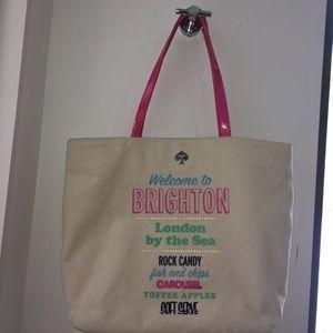 BRANDNEW Kate Spade Canvas Brighton Ivory Tote Bag
