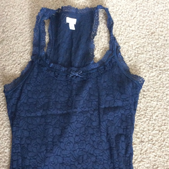 Gilly Hicks Tops - Lace Racer Back Tank Top