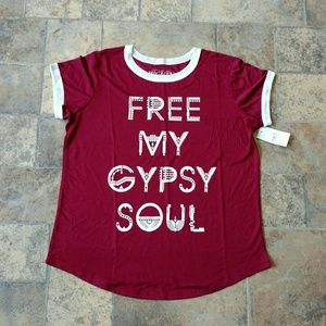 Mighty Fine Tops - BNWT! Free My Gypsy Soul shirt boho festival