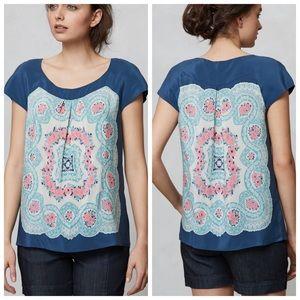 Anthropologie Tops - Anthropologie silk blouse