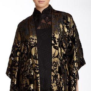Anna Sui Tops - NEW Anna Sui Gold Velvet Kimono NWT P S M rt $433