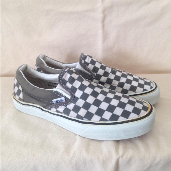 Vans Shoes | Grey White Checkered Vans