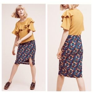 Anthropologie Dresses & Skirts - 🆕 Anthropologie Maeve Geometrique Pencil Skirt
