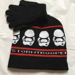 Star Wars Other - NWT Star Wars Storm Trooper Reversible Hat Set