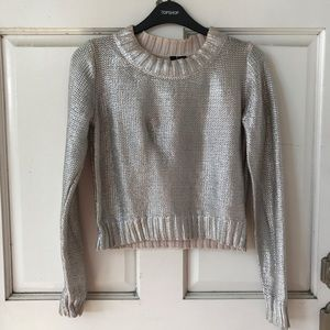 Divided Sweaters - H&M Metallic Cropped Sweater
