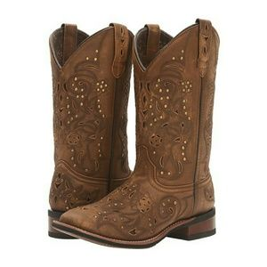 Laredo Shoes - Laredo Janie Western Cowboy Boots Leather Brown