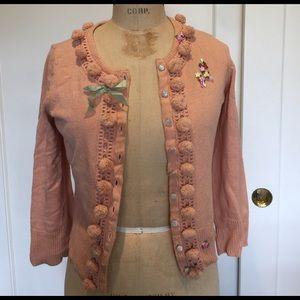 Anthro Pom Pom Sweater
