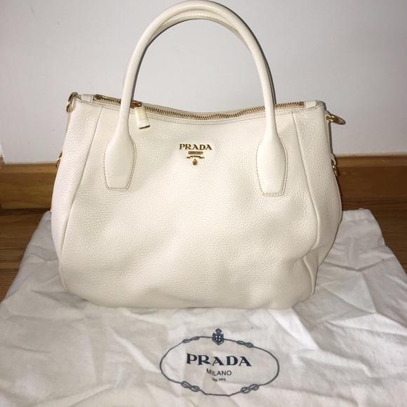 c5a9417d046e Prada Bags | Nero Soft Calf Leather In Talco Br4992 | Poshmark