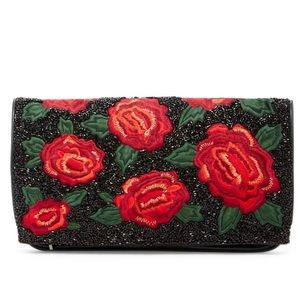 Alice + Olivia Handbags - Alice + Olivia Beaded Embroidered Floral Clutch
