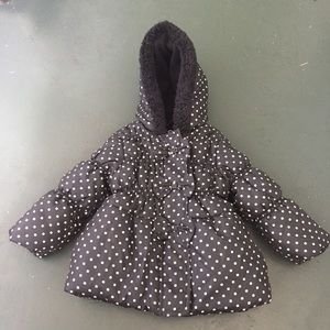 Pink Platinum Other - Adotrable black with white polka dot coat