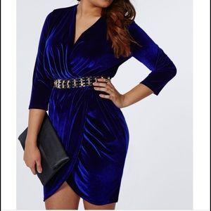 Missguided Dresses & Skirts - Missguided velvet wrap dress
