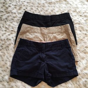 J. Crew Pants - Lot of 3 J.Crew Chino Broken in Shorts 100% cotton