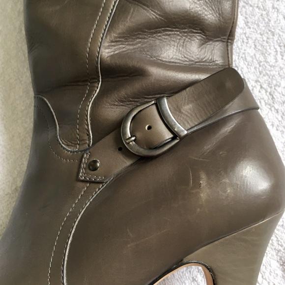 Anyi Lu Shoes - Anyi Lu Gray Stiletto Tall Boot
