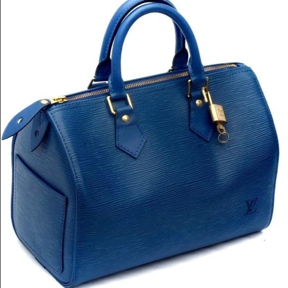 0fcd2e20763d Louis Vuitton Handbags - Authentic 💯Louis Vuitton 🌺Speedy 25 Epi Blue