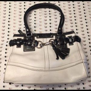 Coach Handbags - Coach white leather shoulder strap bag