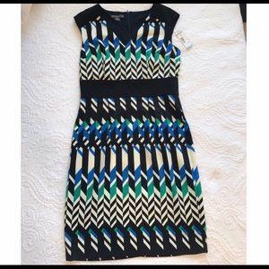 GEO abstract sheath black/blue Dress