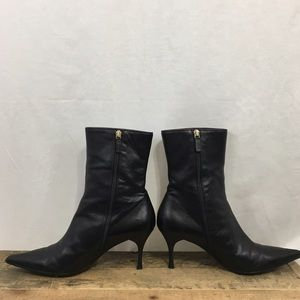 Gucci Shoes - Gucci black ankle heeled boots size 9
