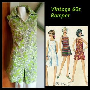 Sears Pants - Vintage Romper. Step back in time.