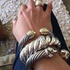 David Yurman Jewelry - David Yurman 10mm 14k gold and silver bracelet