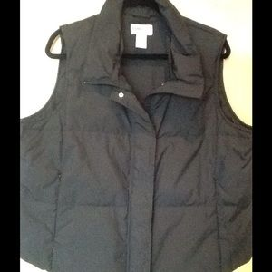 LADIES BLACK XL INSULATED VEST BY PENDLETON