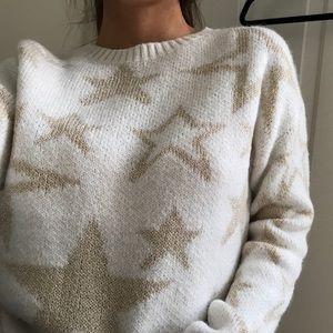 WhiteGold stars sweater